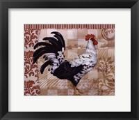 Framed Bergerac Rooster Red I - mini