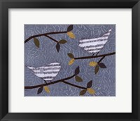 Framed Aqua Songbirds II