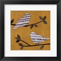 Golden Songbirds I Framed Print