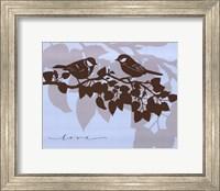 Framed Chickadee Love  - mini