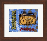 Framed Boom Box