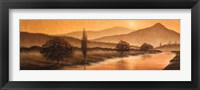 Framed Sunrise Landscape II