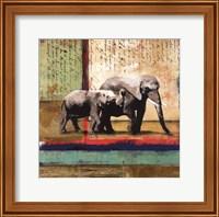 Framed Serengeti Elephant