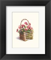 Framed Log Cabin Pansy Basket