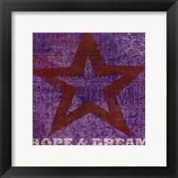 Framed Believe Hope Dream