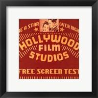 Framed Hollywood Film Studios