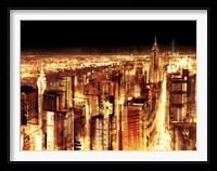 Framed Manhattan Panoramic Nocturne (detail)