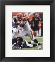 Framed Rey Maualuga 2010 Action