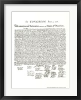 Framed Declaration of Independence (Document)