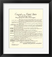 Bill of Rights (Document) Framed Print