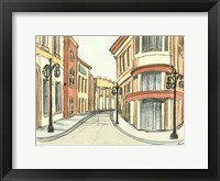 Framed Sketches of Downtown IV