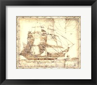 Framed Small Ghost Ship I (P)