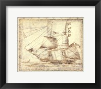 Framed Small Ghost Ship II (P)