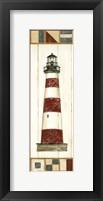 Americana Lighthouse I Framed Print