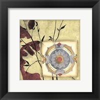 Framed Printed Moonlit Rosette I