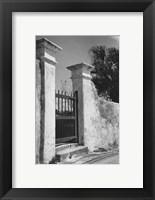 Framed Old Bermuda Gate II