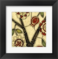 Framed Small Floral Mosaic I
