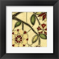 Framed Small Floral Mosaic IV
