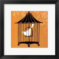 Framed Small Birdcage Silhouette I (U)