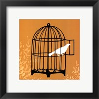 Framed Small Birdcage Silhouette II (U)