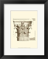 Framed Small Corinthian Detail II (U)