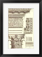 Framed Small Corinthian Detail V (U)