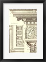 Framed Small Corinthian Detail VI (U)