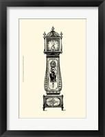 Framed Sm Antique Grandfather Clock II