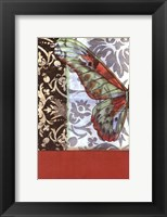 Framed Small Butterfly Tapestry I (P)