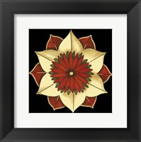 Framed Small Floral Mandala on Red II (P)