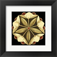 Framed Small Floral Mandala on Red IV (P)