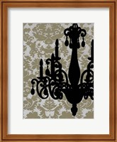 Framed Small Chandelier Silhouette I (P)