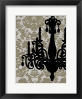 Framed Small Chandelier Silhouette I (P)