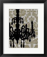 Framed Small Chandelier Silhouette II (P)