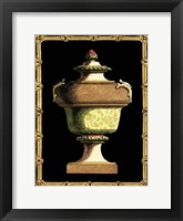Framed Jade Urn on Black III
