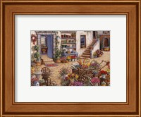 Framed Courtyard Flower Shoppe