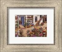 Framed Courtyard Flower Shoppe