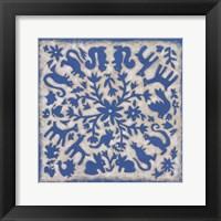 Framed Folk Story in Blue
