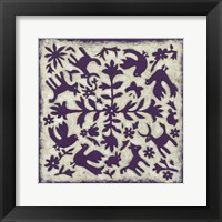 Framed Folk Story in Purple