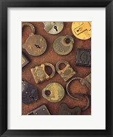 Framed Antique Lock Collage