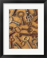 Framed Antique Key Collage
