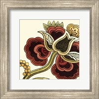 Framed Small Paprika Floral I