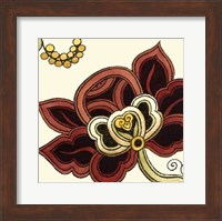Framed Small Paprika Floral II