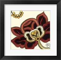 Framed Small Paprika Floral II