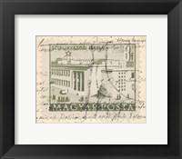 Framed Vintage Stamp II