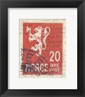 Framed Vintage Stamp III