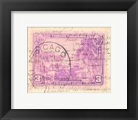 Framed Vintage Stamp IV