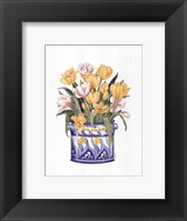 Framed Tub Of Tulips