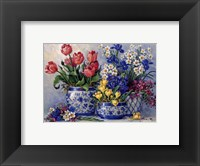 Spring Garden In Blue I Framed Print