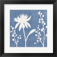 Framed Small Blue Linen I (P)